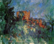 Chateau Noir painting reproduction, Paul Cézanne