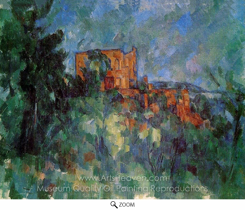 Paul Cézanne, Chateau Noir oil painting reproduction