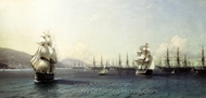 Chernomorskiy Fleet in Feodosiya painting reproduction, Ivan Aivazovskiy