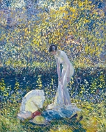 Cherry Blossoms painting reproduction, Frederick Carl Frieseke