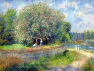 Chestnut Tree in Bloom painting reproduction, Pierre-Auguste Renoir