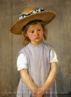 Child in a Straw Hat painting reproduction, Mary Cassatt