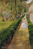 Child on a Garden Walk painting reproduction, William Merritt Chase