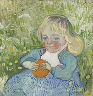 Child with Orange painting reproduction, Vincent Van Gogh
