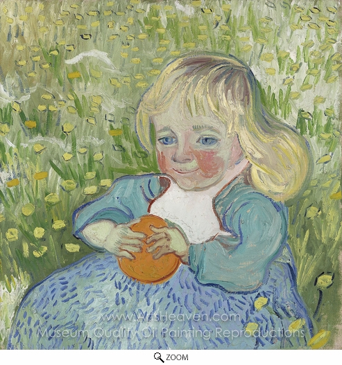Vincent Van Gogh, Child with Orange oil painting reproduction