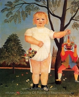 Child with Puppet (To Celebrate the Baby) painting reproduction, Henri Rousseau