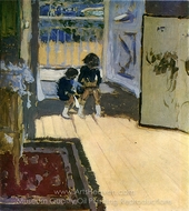 Children painting reproduction, Edouard Vuillard