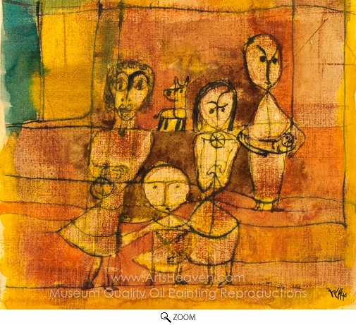 Paul Klee, Children and Dog oil painting reproduction