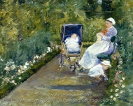 Children in a Garden painting reproduction, Mary Cassatt