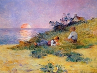 Children on a Dune painting reproduction, Ferdinand Du Puigaudeau