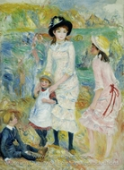 Children on the Seashore, Guernsey painting reproduction, Pierre-Auguste Renoir