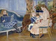 Children's Afternoon at Wargemont painting reproduction, Pierre-Auguste Renoir