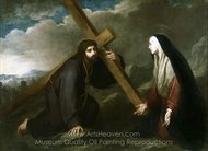 Christ Bearing the Cross painting reproduction, Bartolome Esteban Murillo