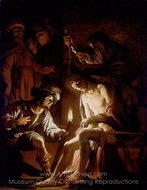 Christ Crowned with Thorns painting reproduction, Gerrit Van Honthorst
