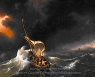 Christ in the Storm on the Sea of Galilee painting reproduction, Ludolf Backhuysen