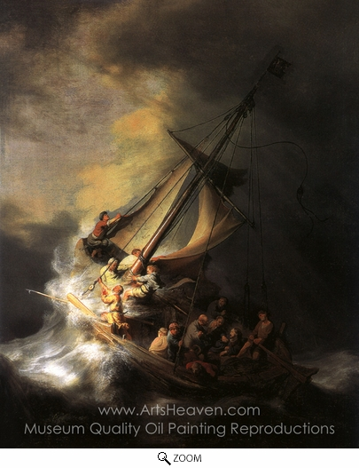 Rembrandt Van Rijn, Christ in the Storm on the Sea of Galilee oil painting reproduction