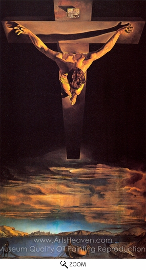 Salvador Dali (inspired by), Christ of St. John of the Cross oil painting reproduction