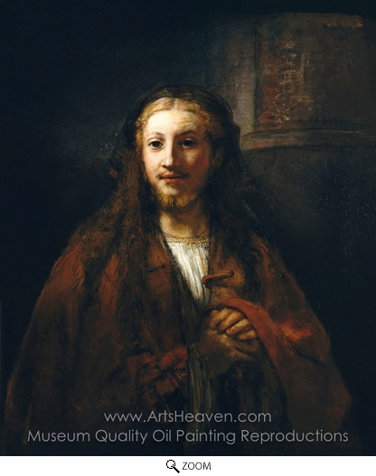 Rembrandt Van Rijn, Christ with a Staff oil painting reproduction