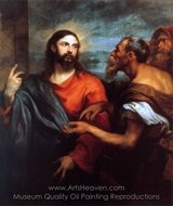Christ with Money painting reproduction, Sir Anthony Van Dyck