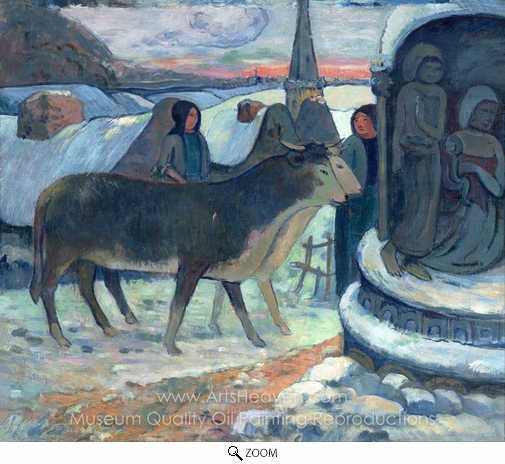 Paul Gauguin, Christmas Night oil painting reproduction