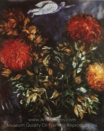 Chrysanthemums painting reproduction, Marc Chagall (inspired by)