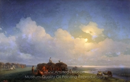 Chumaks During the Rest painting reproduction, Ivan Aivazovskiy
