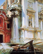 Church of St. Stae, Venice painting reproduction, John Singer Sargent