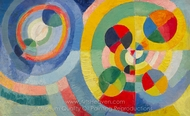 Circular Forms painting reproduction, Robert Delaunay
