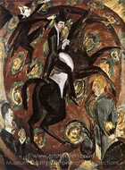 Circus Rider painting reproduction, Ernst Ludwig Kirchner