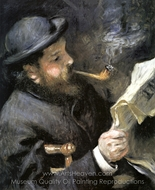 Claude Monet Reading painting reproduction, Pierre-Auguste Renoir