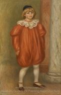 Claude Renoir in Clown Costume painting reproduction, Pierre-Auguste Renoir
