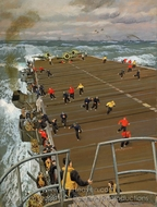 Clear Flight Deck: On Board an Aircraft Carrier painting reproduction, Stephen Bone