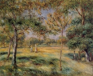 Clearing painting reproduction, Pierre-Auguste Renoir