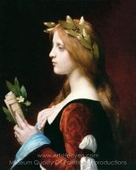 Clemence Isaure painting reproduction, Jules Joseph Lefebvre