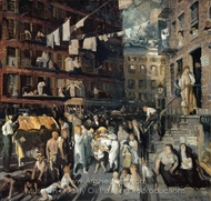 Cliff Dwellers painting reproduction, George Wesley Bellows