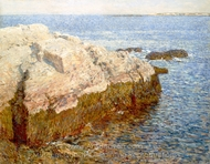 Cliff Rock - Appledore painting reproduction, Childe Hassam