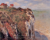 Cliffs at Dieppe painting reproduction, Claude Monet