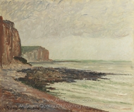 Cliffs at Petites-Dalles painting reproduction, Camille Pissarro