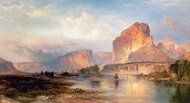 Cliffs of Green River painting reproduction, Thomas Moran