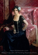 Clotilde in Evening Dress painting reproduction, Joaquin Sorolla