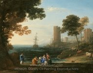 Coast View with the Abduction of Europa painting reproduction, Claude Lorraine