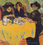 Coffee Drinking Women painting reproduction, Ernst Ludwig Kirchner