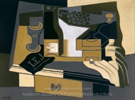 Coffee Grinder painting reproduction, Juan Gris