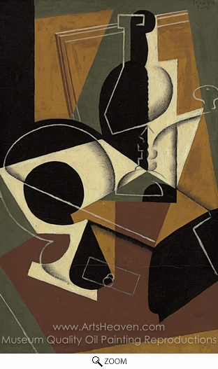Juan Gris, Coffee Grinder and Bottle oil painting reproduction
