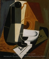Coffeepot painting reproduction, Juan Gris