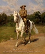 Col. William F. Cody (Buffalo Bill) painting reproduction, Rosa Bonheur