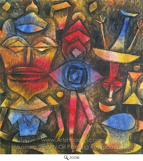 Paul Klee, Collection of Figurines oil painting reproduction