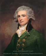 Colonel Robert Abercrombie painting reproduction, George Romney