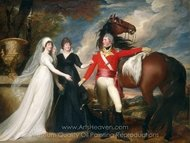 Colonel William Fitch and His Sisters Sarah and Ann Fitch painting reproduction, John Singleton Copley
