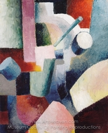 Coloured Form Composition painting reproduction, August Macke